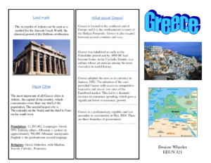 Greece Travel Brochure/kids Writing Project | Europe Unit in Travel Brochure Template Ks2
