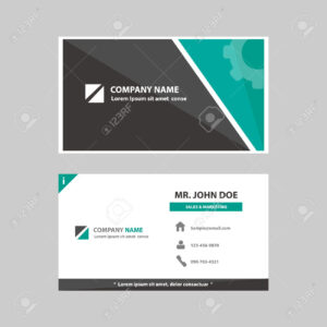 Green And Black Multipurpose Business Profile Card Template Flat.. pertaining to Advertising Card Template
