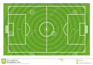 Green Football Field Template Stock Illustration pertaining to Blank Football Field Template