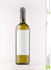 Green Wine Bottle With Blank White Label On White Wooden regarding Blank Wine Label Template