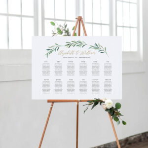 Greenery Wedding Seating Chart Template, Printable Seating Chart, Wedding  Seating Plan | Edite In Word And Pages intended for Wedding Seating Chart Template Word
