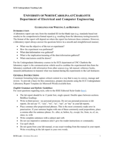 Guidelines For Writing Lab Reports throughout Engineering Lab Report Template