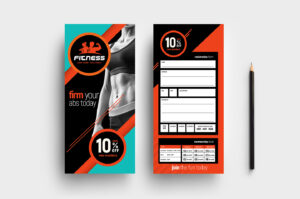 Gym / Fitness Dl Rack Card Template In Psd, Ai & Vector for Dl Card Template