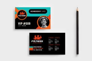 Gym / Fitness Membership Card Template In Psd, Ai & Vector in Template For Membership Cards