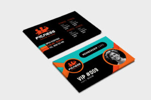 Gym / Fitness Membership Card Template In Psd, Ai & Vector with Gym Membership Card Template