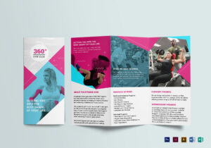Gym Tri-Fold Brochure Template for Training Brochure Template