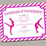 "Gymnastics Award Certificate, Dance Award – Printable Digital File 8.5"" X  11"" Pertaining To Dance Certificate Template"
