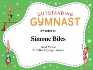 Gymnastics Quotes | Simone Biles, Gabby Douglas & Aly for Gymnastics Certificate Template