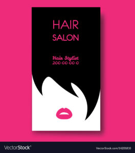 Hair Salon Business Card Templates With Black Hair with regard to Hair Salon Business Card Template