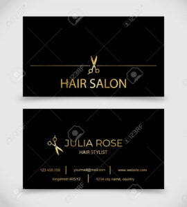 Hair Salon, Hair Stylist Business Card Vector Template throughout Hair Salon Business Card Template