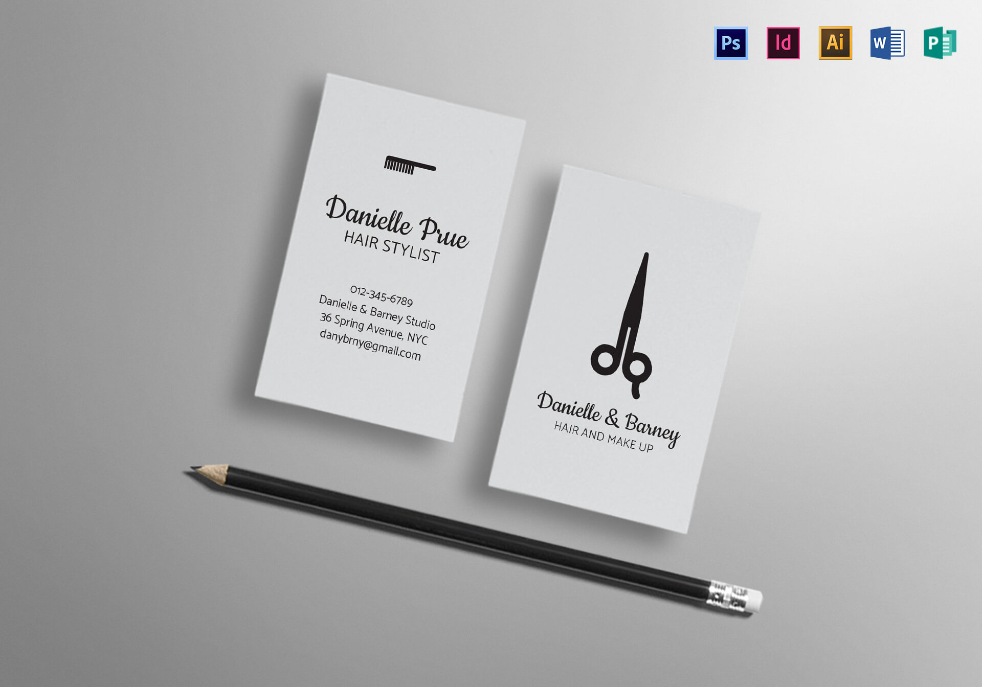 Hair Stylist Business Card Template Intended For Hair Salon Business Card Template
