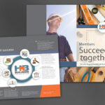 Half Fold Brochure Template For Builders Association. Order Inside Half Page Brochure Template
