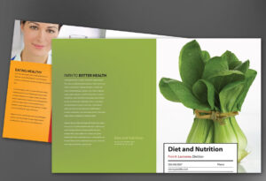 Half Fold Brochure Template For Health And Nutrition. Order In Nutrition Brochure Template