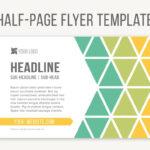 Half Page Flyer Template #template#files#microsoft Regarding Half Page Brochure Template