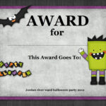 Halloween Costume Award | Halloween | Halloween Costume throughout Halloween Costume Certificate Template