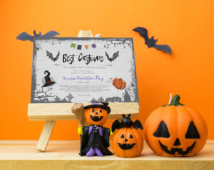 Halloween Party, Best Costume Contest, Printable Certificate, Cosplay,  Fancy Dress Competition, Instant Download, Award Template, Vote Card with regard to Halloween Costume Certificate Template