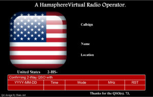 Hamsphere Qsl Templates | Kd0Pnp Ham Radio with Qsl Card Template