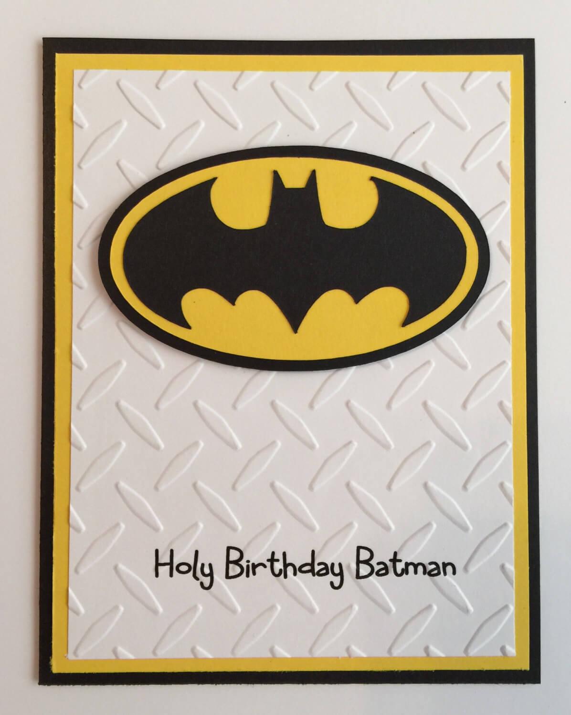 Handmade Batman Birthday Card For Batman Birthday Card Template