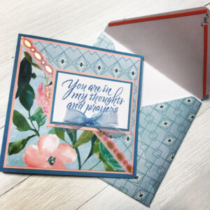Handmade Card Using Spring Posies Paper Padrecollections pertaining to Recollections Card Template