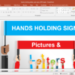 Hands Holding Letters And Signs Powerpoint Template Inside Powerpoint Default Template