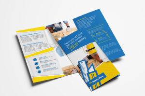 Handyman Tri-Fold Brochure Template In Psd, Ai & Vector regarding Commercial Cleaning Brochure Templates