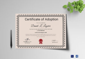 Happy Adoption Certificate Template Inside Adoption Certificate Template