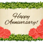 Template For Anniversary Card