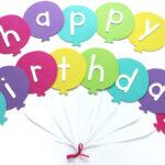 Happy Birthday Banner Diy Template | Balloon Birthday Banner Intended For Diy Party Banner Template