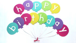 Happy Birthday Banner Diy Template | Balloon Birthday Banner intended for Homemade Banner Template