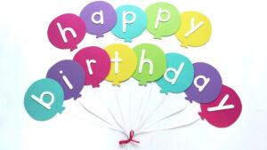 Happy Birthday Banner Diy Template | Balloon Birthday Banner pertaining to Diy Birthday Banner Template