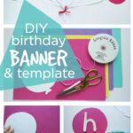 Happy Birthday Banner Diy Template | Diy Party Ideas  Group With Diy Party Banner Template