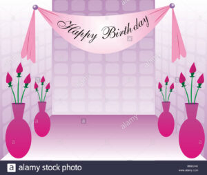 Happy Birthday Banner Stock Photos & Happy Birthday Banner pertaining to Sweet 16 Banner Template