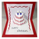 Happy Birthday Cake – Pop Up Card Tutorial – Free Cake Videos Intended For Happy Birthday Pop Up Card Free Template