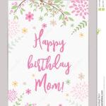 Happy Birthday Mom! Greeting Card Stock Vector Inside Mom Birthday Card Template