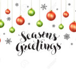 Happy Holidays Greeting Card Template. Modern New Year Lettering.. Inside Happy Holidays Card Template