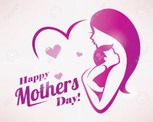 Happy Mothers Day Greeting Card Template, Stylized Symbol Of.. throughout Mom Birthday Card Template