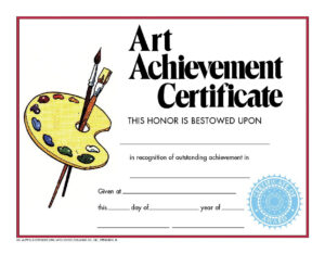 Hayes School Specialty Style C Art Achievement Certificate within Hayes Certificate Templates