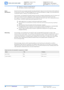 Hazardous Waste Management Plan Template – Free And Editable within Waste Management Report Template