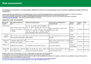Health And Safety Implications / Risk Assessment Report inside Health Check Report Template