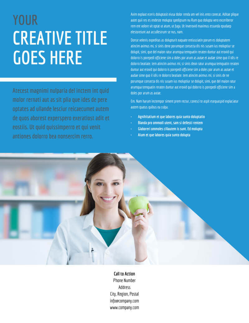 Health Nutrition Flyer Template In Nutrition Brochure Template