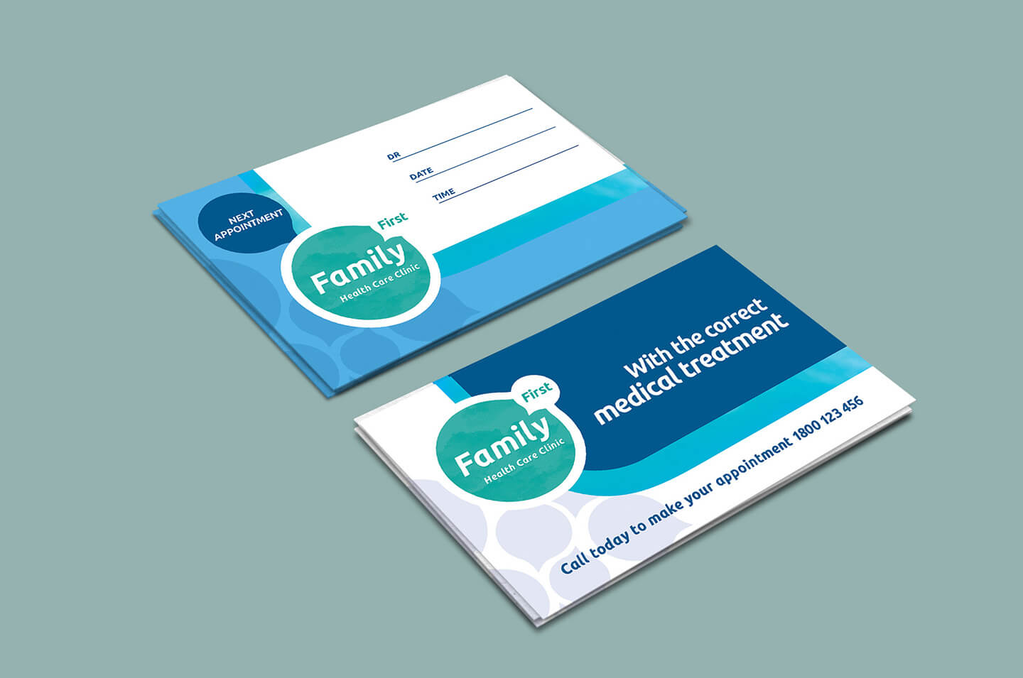 Healthcare Clinic Appointment Card Template In Psd, Ai For Medical Appointment Card Template Free