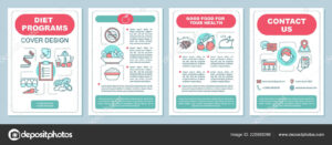 Healthy Nutrition Brochure Template Layout Dieting Program Regarding Nutrition Brochure Template