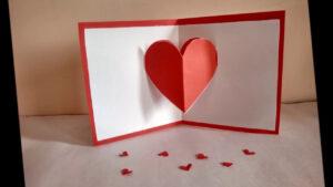 Heart Pop-Up Cardzainab throughout Heart Pop Up Card Template Free