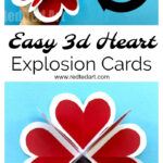 Heart Pop Up Valentine Card – Red Ted Art With Heart Pop Up Card Template Free