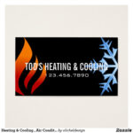 Heating & Cooling , Air Conditioning Hvac Business Card Throughout Hvac Business Card Template