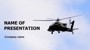 Helicopter In Sky Powerpoint Template And Theme. This pertaining to Air Force Powerpoint Template