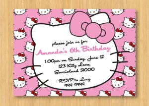 Hello Kitty Birthday Invitations Printable Free – Invitation with Hello Kitty Birthday Card Template Free
