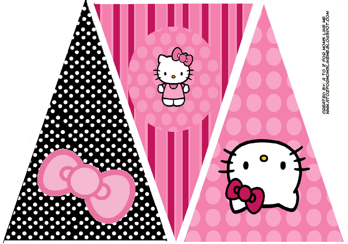 Hello Kitty Birthday Party Banner. This Is One Of 2 Regarding Hello Kitty Banner Template