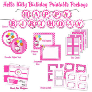 Hello Kitty Printables Free Hello Kitty Printable Birthday in Hello Kitty Birthday Banner Template Free