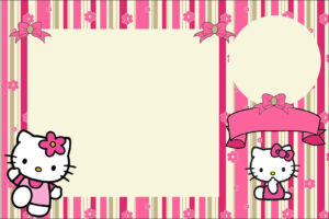 Hello Kitty With Flowers: Free Printable Invitations. – Oh in Hello Kitty Birthday Banner Template Free